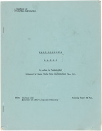 Bambi Handbook of Production Information 9 Pages (Walt Disney, 1942)