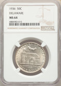 Commemorative Silver, 1936 50C Delaware MS64 NGC. NGC Census: (964/1751). PCGS Population: (1542/2438). MS64. Mintage 20,993. . From the Jame...