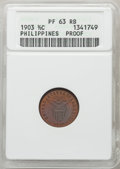 1903 1/2C PR63 Red and Brown ANACS