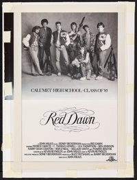 """Red Dawn (MGM, 1984). Very Fine. Original Poster Concept Mockup (17"""" X 23""""). Action"""