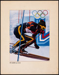 """Movie Posters:Sports, 1980 Winter Olympics by Wilson McLean (TV Guide, 1980). Very Fine-. Eastman Color Dye Transfer Print (Image: 11"""" X 14"""", With..."""