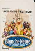 """Movie Posters:Animation, Snow White and the Seven Dwarfs (Discibel, R-1962). Folded, Very Fine-. Belgian (14.5"""" X 21.5""""). Animation.. ..."""