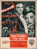 """Movie Posters:Musical, A Star Is Born (Warner Bros., 1955). Very Fine- on Linen. French Moyenne (23.5"""" X 31""""). Musical.. ..."""