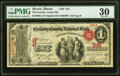 National Bank Notes:Illinois, Morris, IL - $1 Original Fr. 380b The Grundy County National Bank Ch. # 531 PMG Very Fine 30.. ...