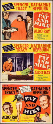 """Pat and Mike (MGM, 1952). Very Fine-. Title Lobby Card & Lobby Cards (2) (11"""" X 14""""). Comedy. ... (Tot..."""