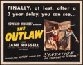 """Movie Posters:Western, The Outlaw (RKO, R-1950). Very Fine. Title Lobby Card (11"""" X 14""""). Western.. ..."""