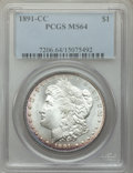 1891-CC $1 MS64 PCGS. PCGS Population: (3796/788). NGC Census: (1152/137). CDN: $850 Whsle. Bid for problem-free NGC/PCG...