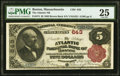 Boston, MA - $5 1882 Brown Back Fr. 474 The Atlantic National Bank Ch. # 643 PMG Very Fine 25.<