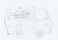 Animation Art:Concept Art, Scooby-Doo The Mystery Machine Publicity Drawing Preliminary (Hanna-Barbera, c. 1990s).. ...