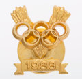 Olympic Collectibles:Autographs, 1988 Olympic Pin Presented to Carl Lewis....