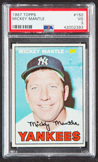 1967 Topps Mickey Mantle #150 PSA VG 3