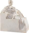 Sculpture, Alessandro Laforêt (Italian, 1863-1937). Maternità. Marble. 19 x 16 x 10 inches (48.3 x 40.6 x 25.4 cm). Inscribed to ba...