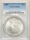 Morgan Dollars: , 1883 $1 MS66 PCGS. PCGS Population: (1092/150). NGC Census: (820/136). CDN: $380 Whsle. Bid for problem-free NGC/PCGS MS66....