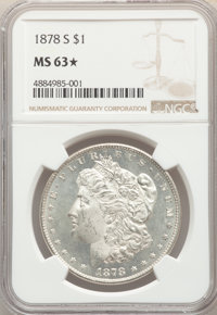 1878-S $1 MS63 ★ NGC. NGC Census: (18658/22383). PCGS Population: (18461/22774). CDN: $73 Whsle. Bid for problem-free...