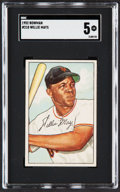 Baseball Cards:Singles (1950-1959), 1952 Bowman Willie Mays #218 SGC EX 5....