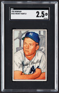 Baseball Cards:Singles (1950-1959), 1952 Bowman Mickey Mantle #101 SGC GD+ 2.5....