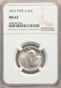 Standing Liberty Quarters, 1917 25C Type Two MS62 NGC. NGC Census: (88/302). PCGS Population: (90/500). CDN: $185 Whsle. Bid for problem-free NGC/PCGS...