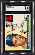Baseball Cards:Singles (1950-1959), 1955 Topps Ted Williams #2 SGC NM 7....