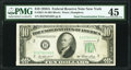 Error Notes:Double Denominations, Fr. 2011-B $10 1950A Federal Reserve Note/$1 Silver Certificate Double Denomination. PMG Choice Extremely Fine 45.. ...