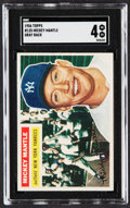 Baseball Cards:Singles (1950-1959), 1956 Topps Mickey Mantle (Gray Back) #135 SGC VG/EX 4....