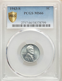 1943-S 1C MS66 PCGS. PCGS Population: (5267/2250). NGC Census: (5121/2653). CDN: $35 Whsle. Bid for problem-free NGC/PCG...