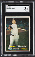 Baseball Cards:Singles (1950-1959), 1957 Topps Mickey Mantle #95 SGC VG 3....