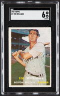 Baseball Cards:Singles (1950-1959), 1957 Topps Ted Williams #1 SGC EX/NM 6....