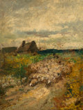 Paintings, Richard Creifelds (American, 1853-1939). Landscape. Oil on canvas. 12 x 9 inches (30.5 x 22.9 cm). Signed lower right: ...