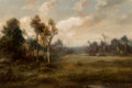 Paintings, Thomas Bailey Griffin (American, 1858-1918). Wooded Landscape. Oil on canvas. 16 x 24 inches (40.6 x 61.0 cm). Signed lo...