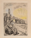 Prints & Multiples, Marc Chagall (1887-1985). King David, from Bible, 1958. Etching in color on paper. 13-3/4 x 10-1/4 inches (34.9 x 26...