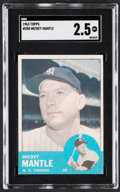 Baseball Cards:Singles (1960-1969), 1963 Topps Mickey Mantle #200 SGC Good+ 2.5....