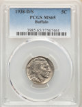 1938-D/S 5C Buffalo MS65 PCGS. PCGS Population: (1973/2126). NGC Census: (736/1055). CDN: $100 Whsle. Bid for problem-fr...