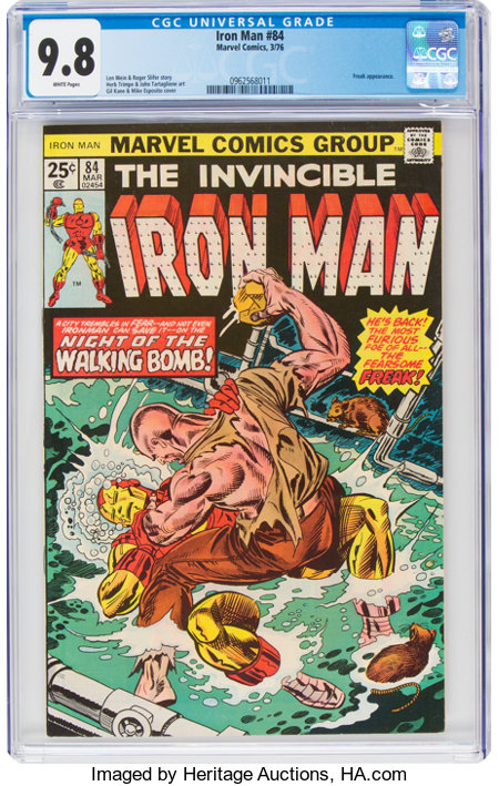 Iron Man #84 (Marvel, 1976) CGC NM/MT 9.8 White pages....
