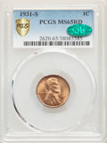1931-S 1C MS65 Red PCGS. CAC. PCGS Population: (905/125). NGC Census: (242/24). CDN: $400 Whsle. Bid for problem-free NG...