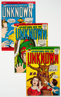 Adventures Into The Unknown Group of 19 (ACG, 1959-66) Condition: Average VG/FN.... (Total: 19 Comic Books)