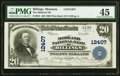 National Bank Notes:Montana, Billings, MT - $20 1902 Plain Back Fr. 661 The Midland National Bank Ch. # 12407 PMG Choice Extremely Fine 45.. ...