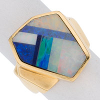 Opal Doublet, Gold Ring