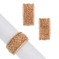 Estate Jewelry:Suites, Diamond, Rose Gold Jewelry Suite. ... (Total: 2 Items)
