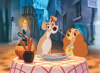 "Lady and the Tramp ""Bella Notte"" Limited Edition Cel #246/500 (Walt Disney, 1991)"