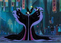 Sleeping Beauty Maleficent and Diablo Limited Edition Cel #200/350 Signed by Marc Davis (Walt Disney, 1995)