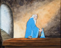 Animation Art:Production Cel, Fantasia Mickey Mouse as The Sorcerer's Apprentice Production Cel on Custom Painted Background (Walt Disney, 1940). ...