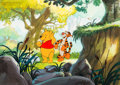 Animation Art:Production Cel, Pooh's Grand Adventure: The Search for Christopher Robin Winnie the Pooh and Tigger Production Cel and Key Master Back...