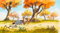 Pooh's Grand Adventure: The Search for Christopher Robin Pooh and Tigger Production Cel on Key Master Pan Production B...