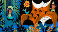 "Animation Art:Concept Art, Mary Blair ""It's a Small World"" Tropics Concept Painting (Walt Disney, 1964/66). ..."