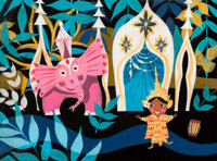 "Mary Blair ""It's a Small World"" Thailand Concept Painting ("