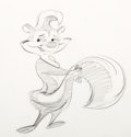Animation Art:Production Drawing, Pepé Le Pew Character Drawing by Chuck Jones (Warner Brothers, 1960). ...