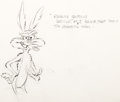 Animation Art:Production Drawing, Rabbit's Feat Wile E. Coyote Animation Rough Drawing by Chuck Jones (Warner Brothers, 1960)....