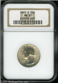 Washington Quarters: , 1945-S 25C MS67 NGC....