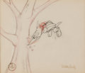 Animation Art:Production Drawing, Woody Woodpecker Opening Title Signed Animation Drawing (W...