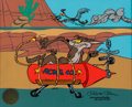"Animation Art:Limited Edition Cel, ""Road Runner and Wile E. Coyote: Acme Rocket"" Limited Edition Cel Artist's Proof #15/25 (Warner Brothers, 1992)...."